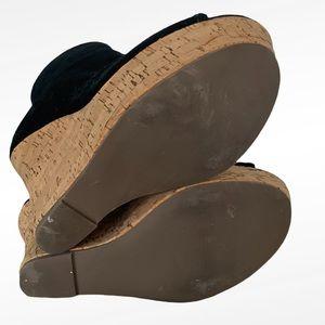 Boston Proper Shoes - BOSTON PROPER JOANNE BLACK SUEDE WEDGES BOOTIES 7
